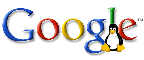Google logo with penguin 4