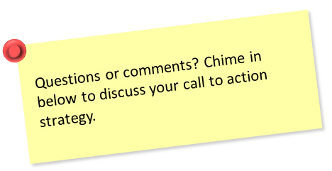 Call to action sticky note