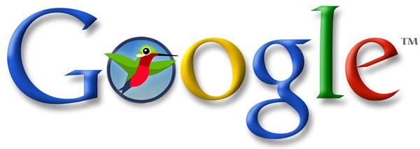 Google logo with hummingbird
