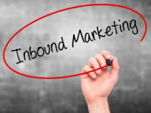 """Person circling """"inbound marketing"""" with marker: SEO-e Friday Trivia Blog"""