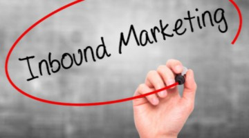 "Person circling ""inbound marketing"" with marker: SEO-e Friday Trivia Blog"