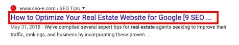 how title tags display in google search results